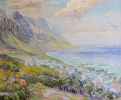 ELINOR CARLETON-SMITH Cloudy Day on Camps Bay